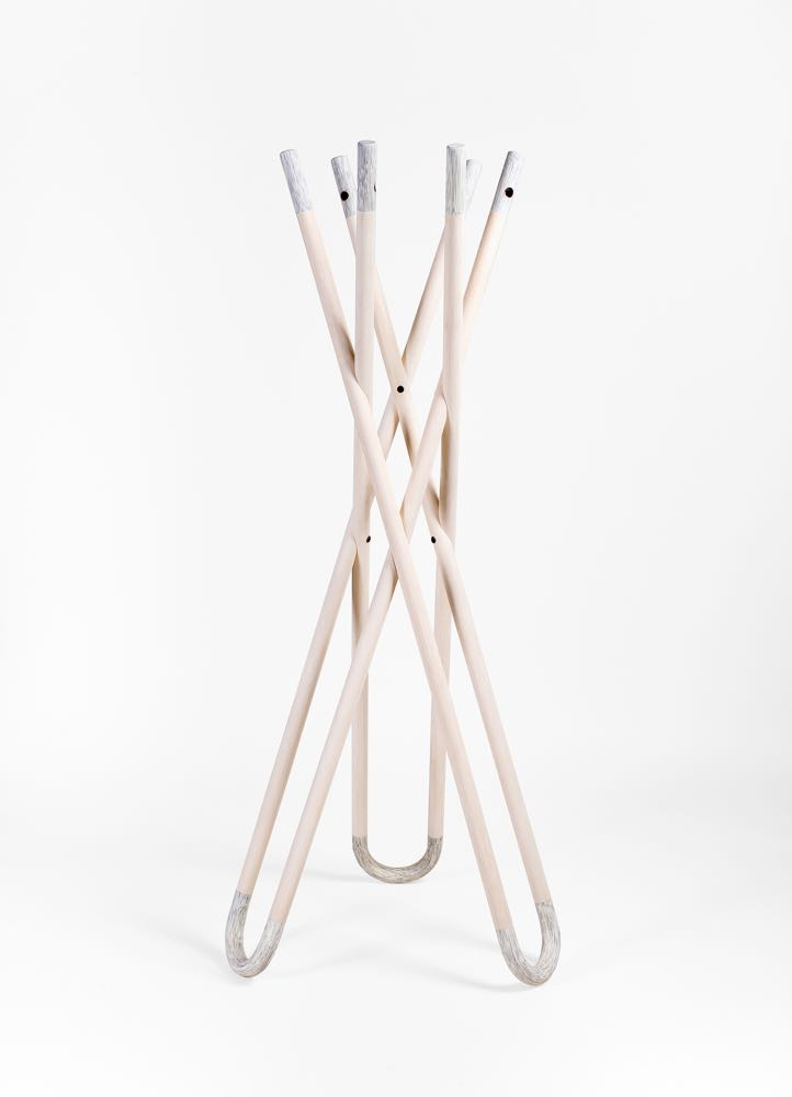 'kc hang' by out for space. Natural rattan with coloured tips.