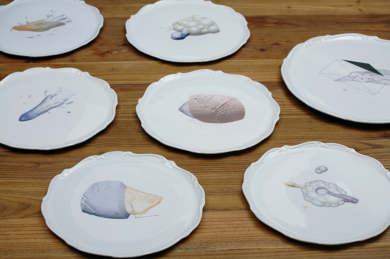 'Bestiarium' plates by  Maria Volokhova , in conjunction with design studio  SHAPES iN PLA Y.