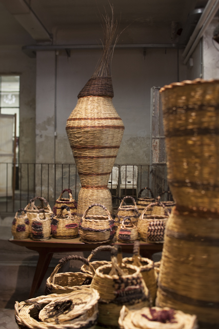 Segno Italiano's new range of hand woven baskets continued the organic nesting theme.