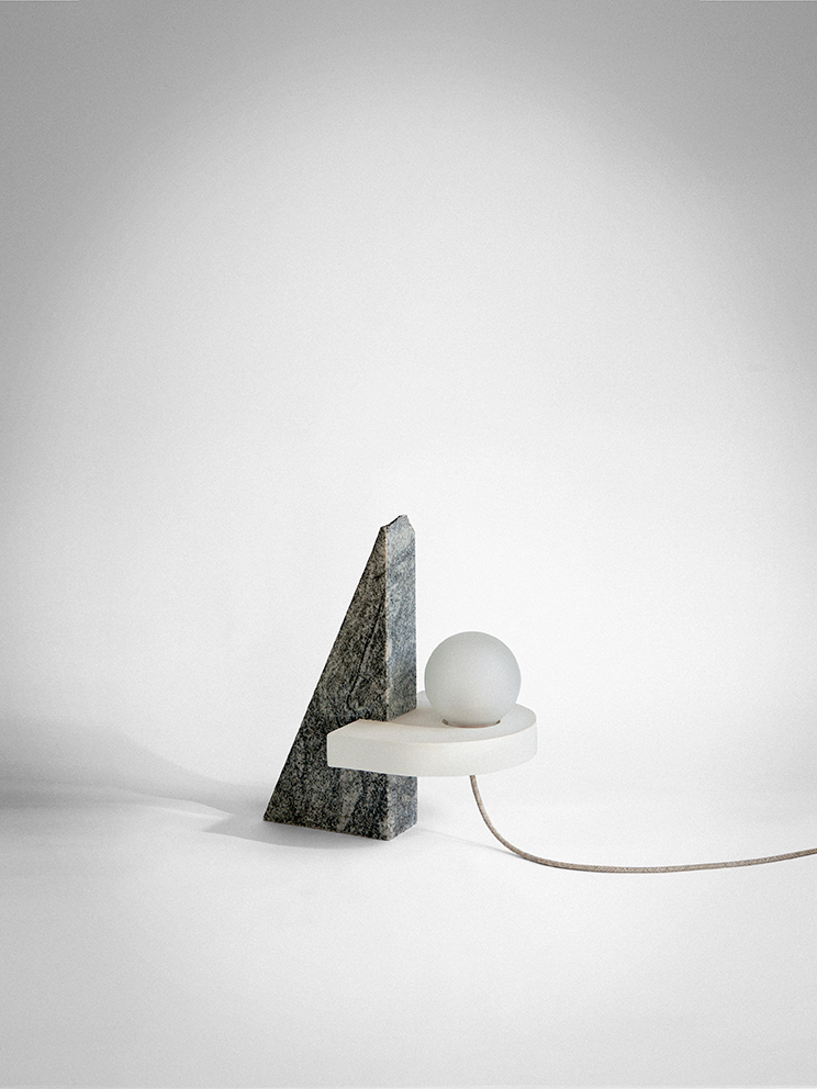 'VI' - A  lamp by Studiopepe from the  Ossimori  exhibition. Photo: Silvia Rivotella.