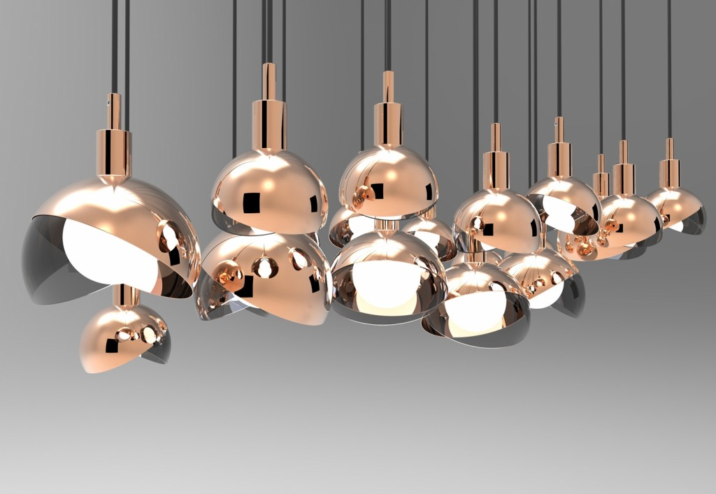'Calimero' pendant light by Dan Yeffet for  Wonderglass.