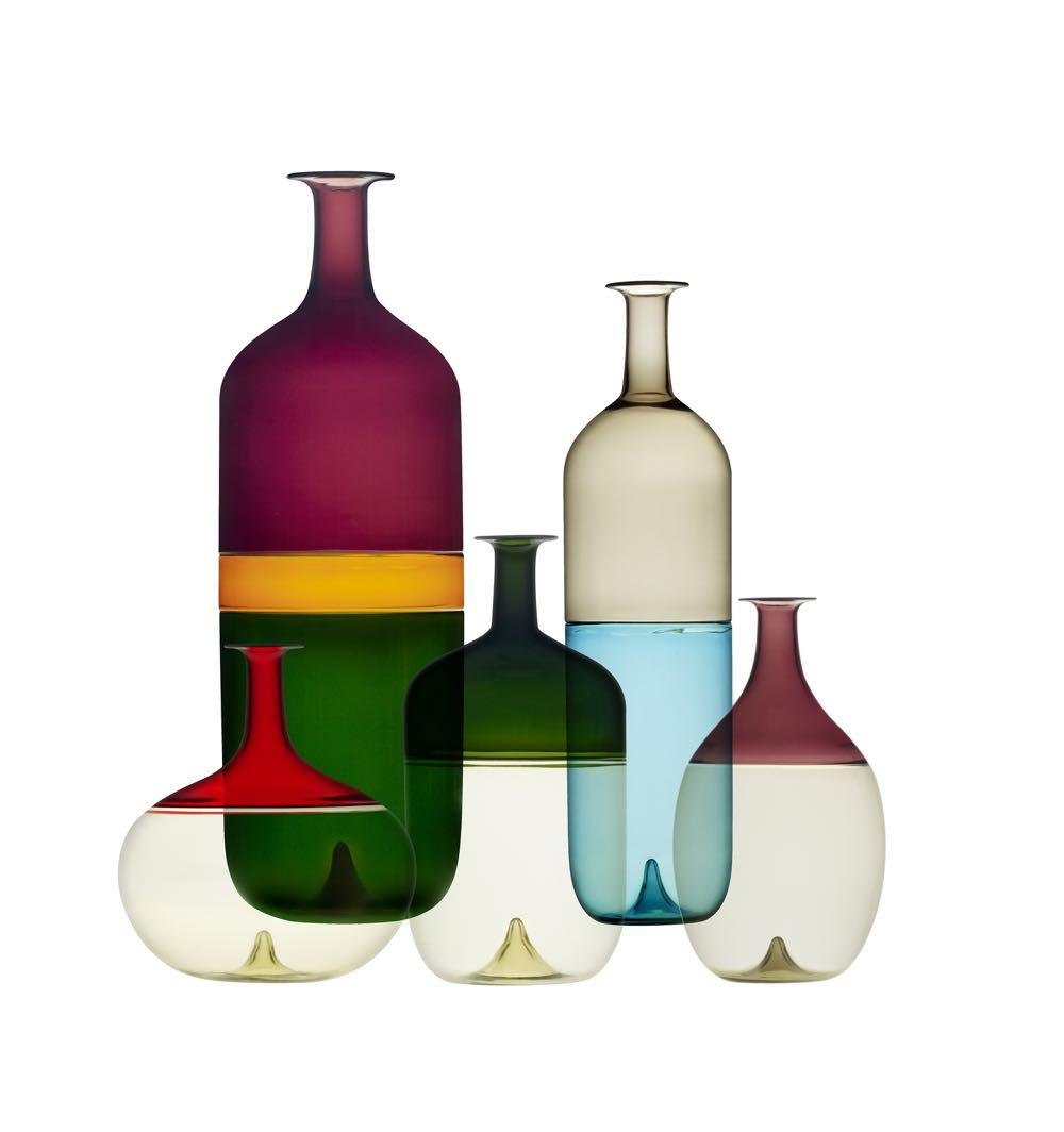 Tapio Wirkkala's 'Bolle' vases for  Venini  1966. Photo courtesy of the TWRB Foundation.