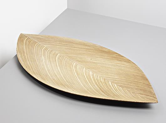 The 'Leaf' bowl from 1951, carved from aircraft plywood.