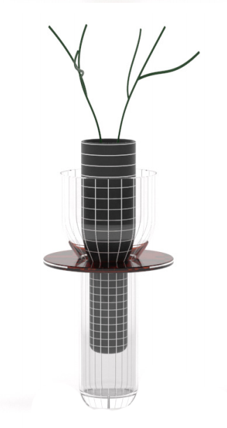 The 'Toy' vase by Guillaume Delvigne. The 52 cm high vase comes in two different colour variants.