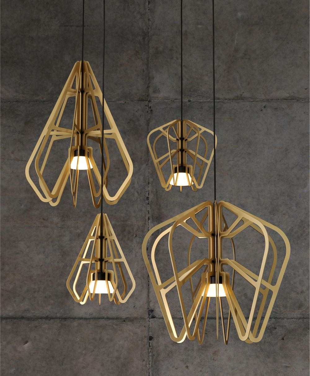 Rowan Turnham and Mathew Harding's 'Exo' lights for Rakumba lighting.