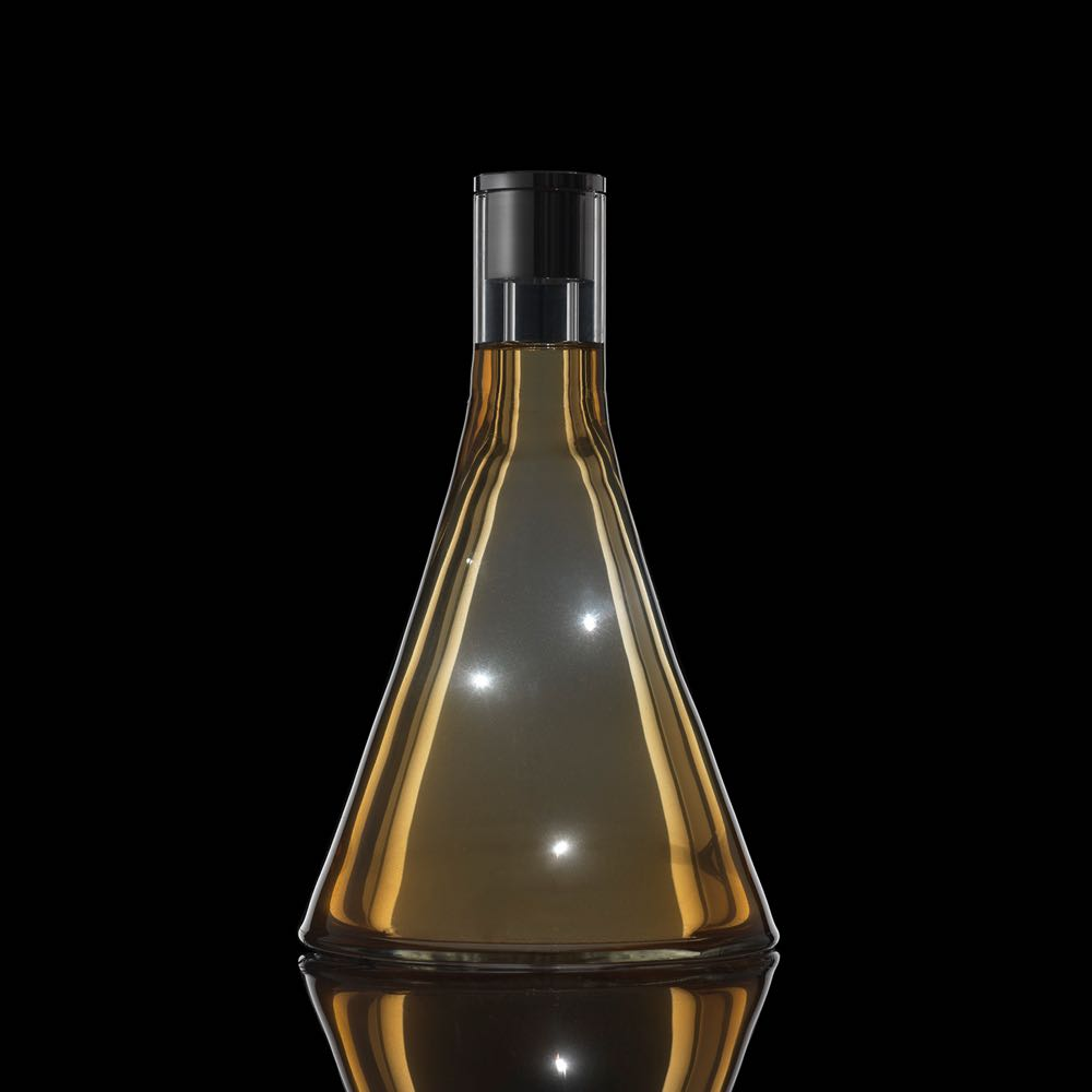 The bottle designed by Front for the 'New Nature' fragrance for the long closed Parisian brand Guyla. Photo by Adriano Brusaferri.