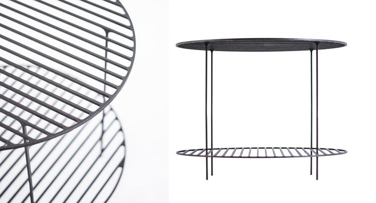 A table fromVittorio Venezia's 'Ferro' collection. Photo by  Angelo Cirrinione & Carolina Martinelli