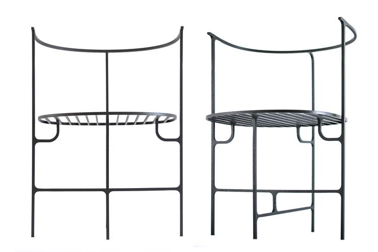 Chairs from the 'Ferro 'collection by Vittorio Venezia. Photo by  Angelo Cirrinione & Carolina Martinelli.