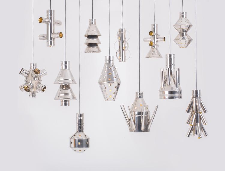 '4Decimi' pendant lights by Vittorio Venezia. Photo by Angelo Cirrinione & Carolina Martinelli.