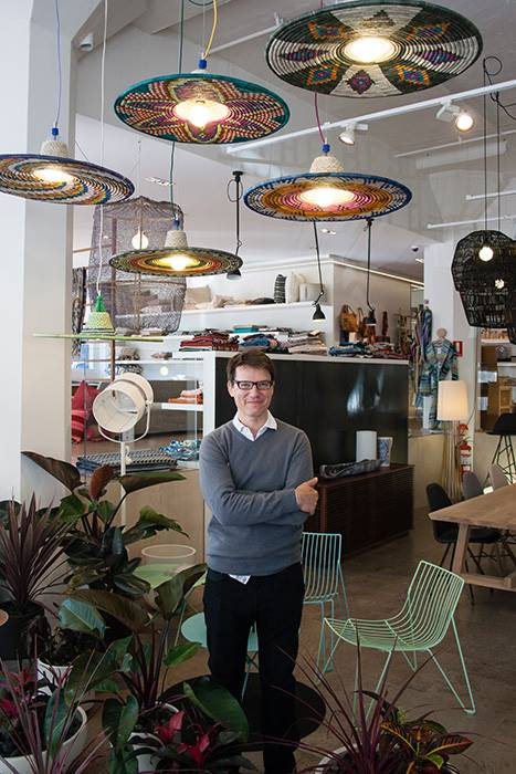 The founder of the PET Lamp project, Alvaro Catalan de Ocon at Spence & Lyda during Saturday Indesign.
