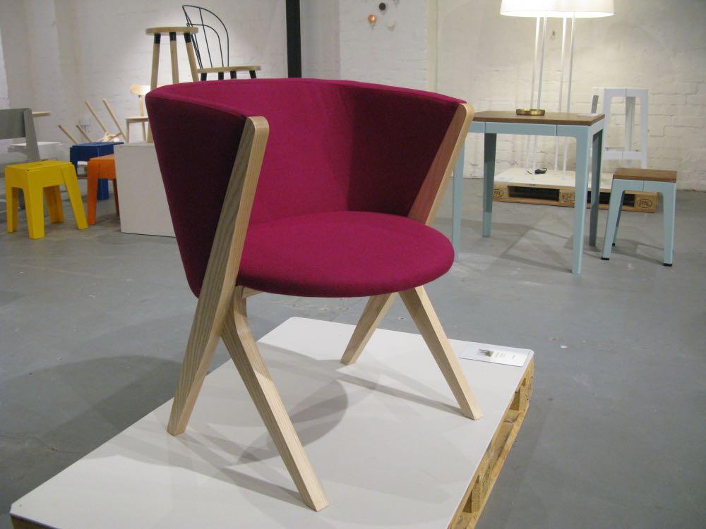Jon Goulder's 'Plum'chair is a modern take on the perennial tub chair.