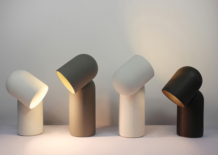 The 'Fumi' lamp by Harry Thaler is two glazed ceramic dome shapes joined by a magnet.