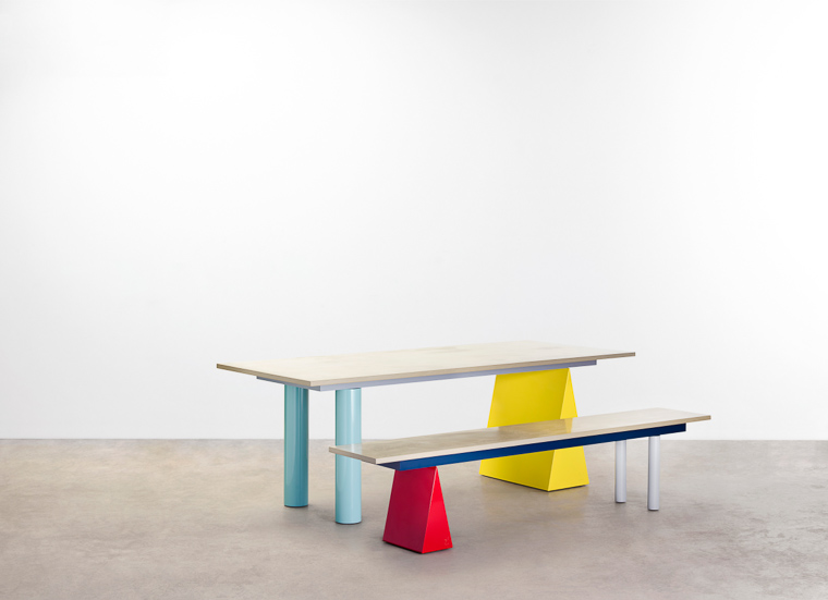The 'Pick 'n' Mix' table and bench by Daniel Emma for Tait.
