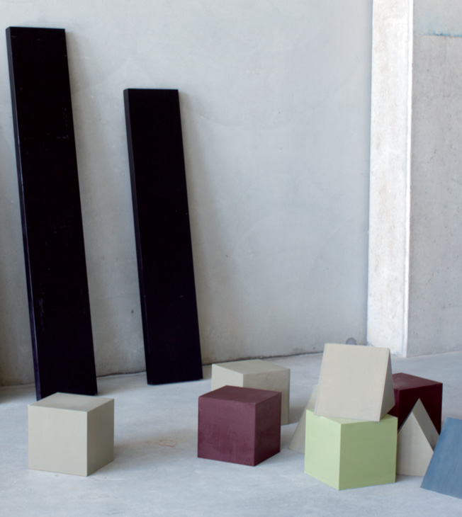 'Neolithic' shelving by Page Thirty Three - a playful take on children's block-style construction.