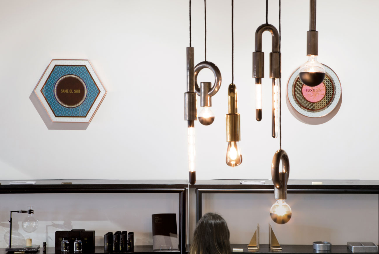 The wonderful ceramic lights of Porcelain Bear and art works by Lynes & Co.
