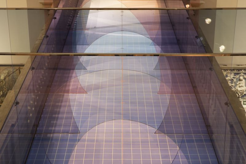 An overhead view of 'Mis en Abyme'by Allegri & Fogale.Photo Ed Reeve.