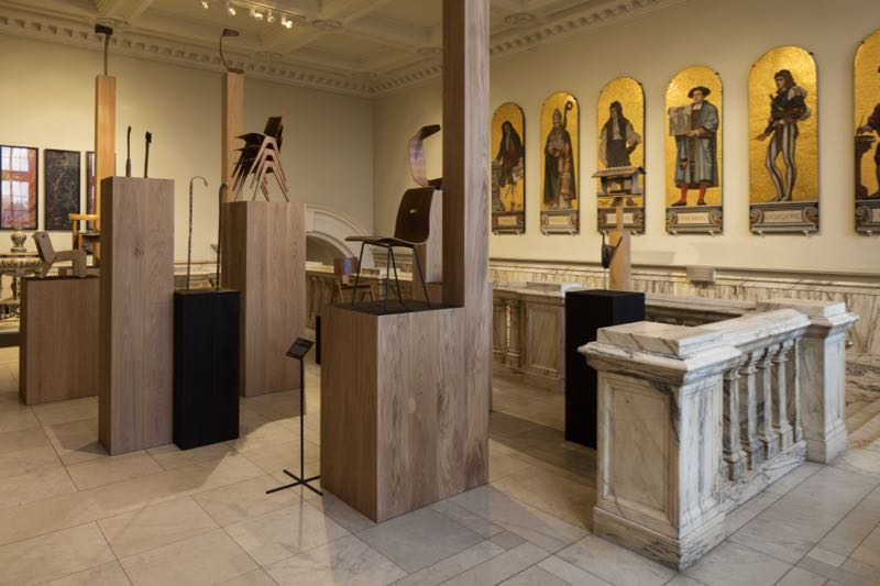 The Robin Day exhibition / installation  Works in Wood at the V&A.Photo Ed Reeve.