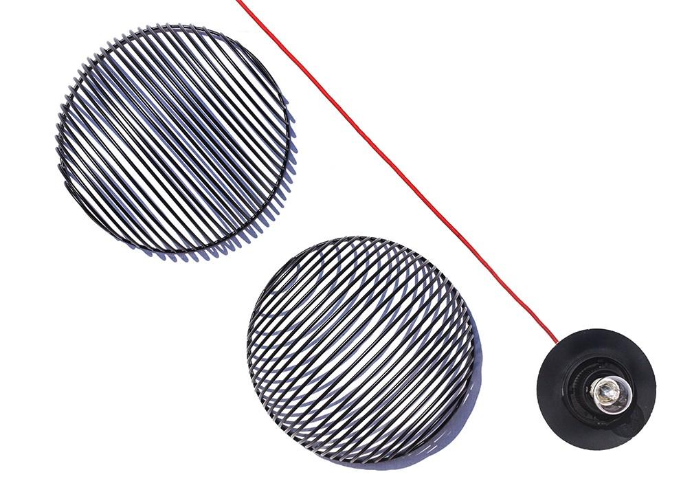 The components of Luis Arrivillaga's latest design, the 'Dana' pendant light.