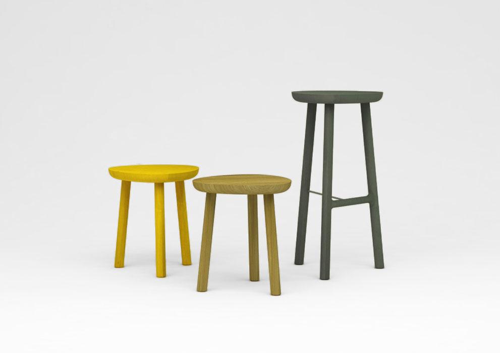 'Ellis' stools by Luis Arrivillaga.