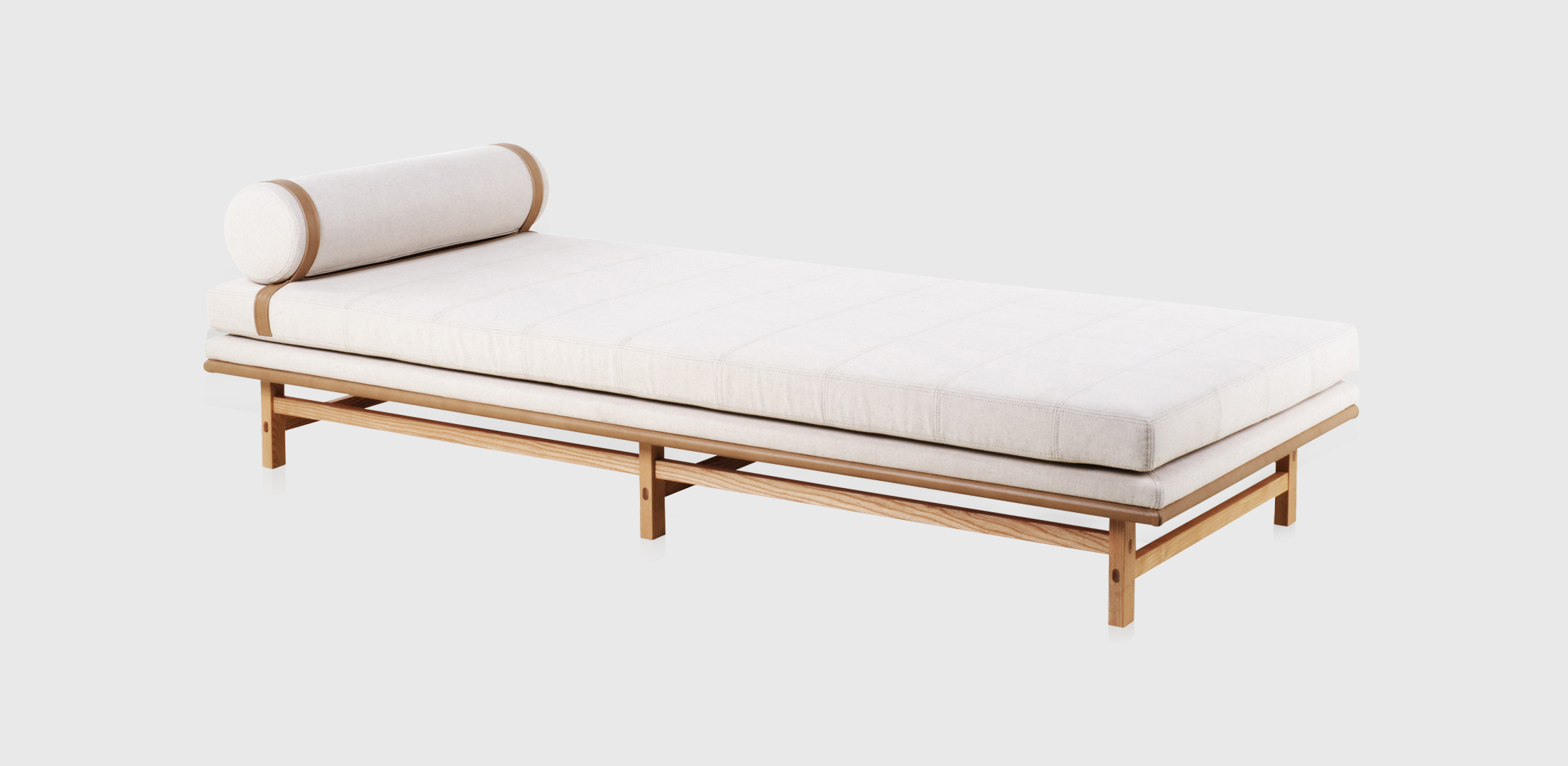 The 'SW' daybed by OeO studio for Stellar Works. A beautifully delicate construction with fine detailing.