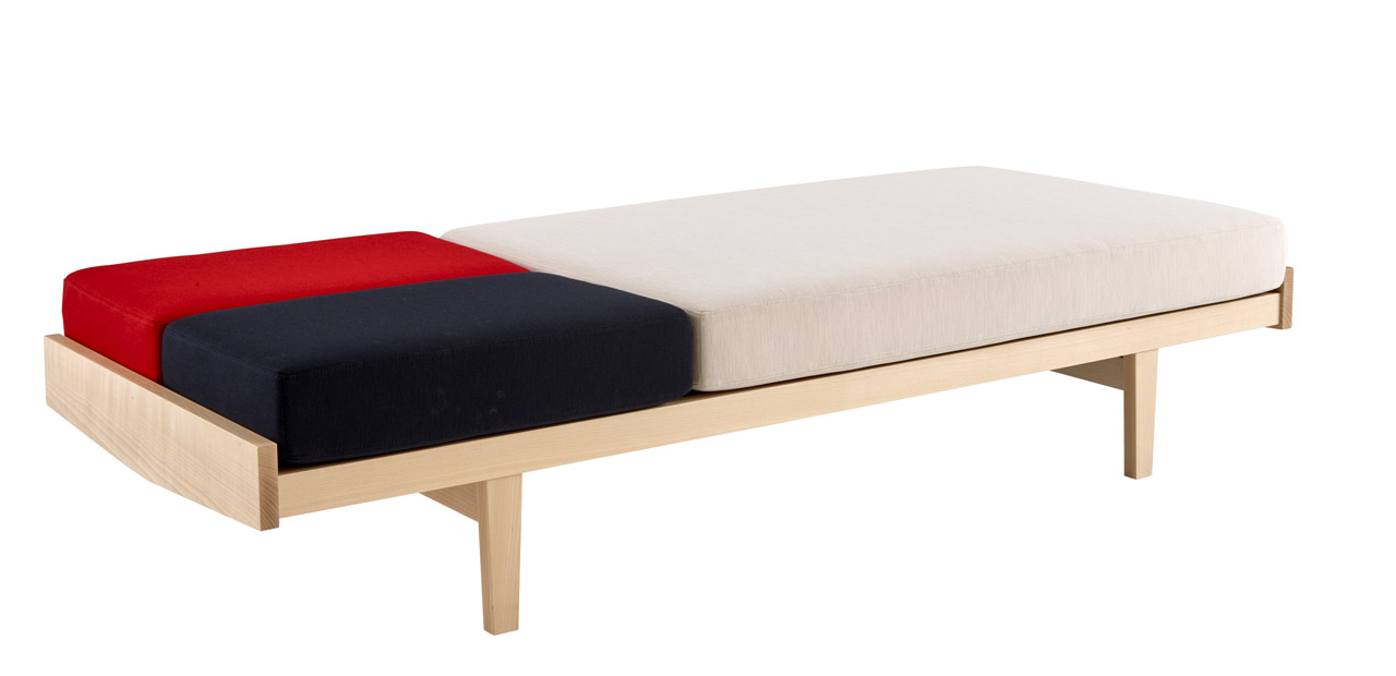 Pierre Paulin's 'Daybed' was reissued in January at Maison & Objet by French brand Ligne Roset. The daybed has a slatted base and the cushions are modular so it can be reconfigured in several ways.