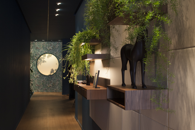 The Studio WM designed scenography at the Hermes showroom in Via Gastone Pisoni MIlan 2015. Photo Craig Wall.