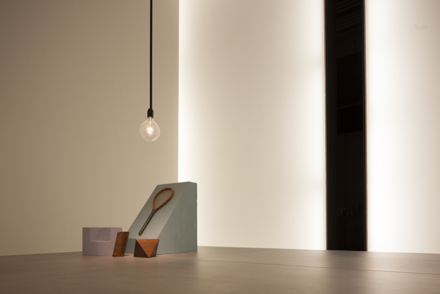 A beautiful composition by photographer Craig Wall. The Desalto stand at Salone del Mobile 2015 was a wonderful combination of soft glowing back light and  clustered objects in  muted colours.Craig's eye for the graphic lined up two vertical black stripes to capture this great image. Just one of a host of amazing things we witnessed in Milan this year.