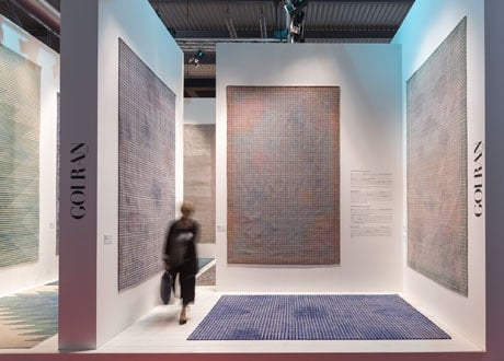 The Golran stand at Salon del Mobile in Milan where the 'Meteo' rugs were launched last April.