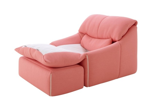 The 'Plumy' armchair by Annie Hieronmous. Originally designed in 1980, now reissuedby Ligne Roset.