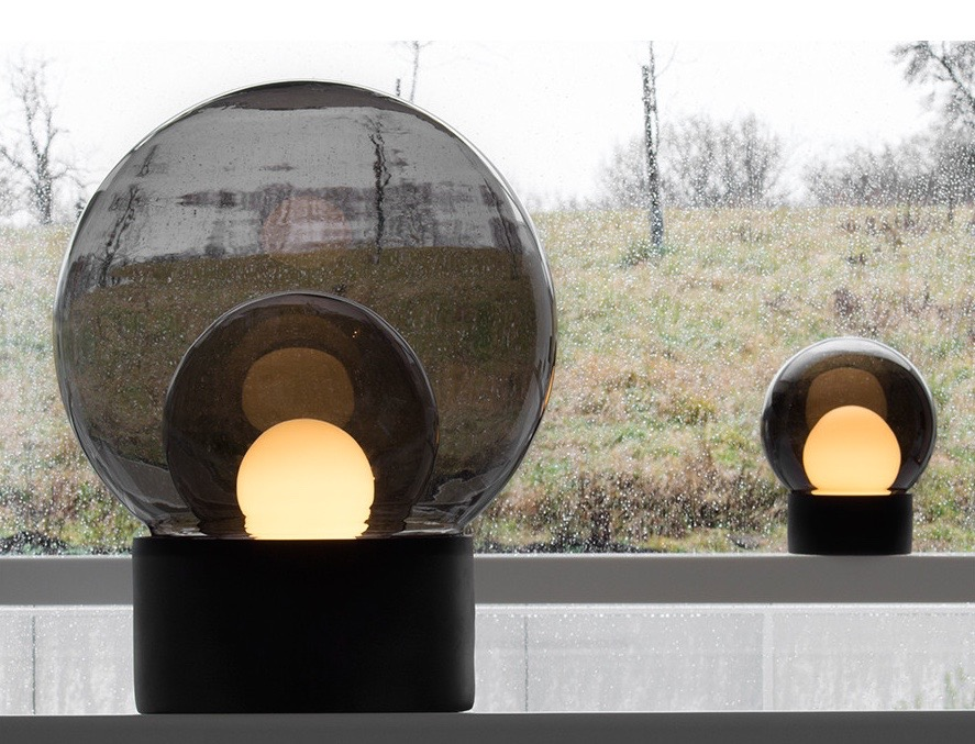 Herkner's 'Boule' table light for Pulpo. A sphere within a sphere within a sphere.