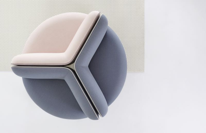 An aerial view of one model in the 'Wes' seating collection - Fereday's latest seating project for Zenith.