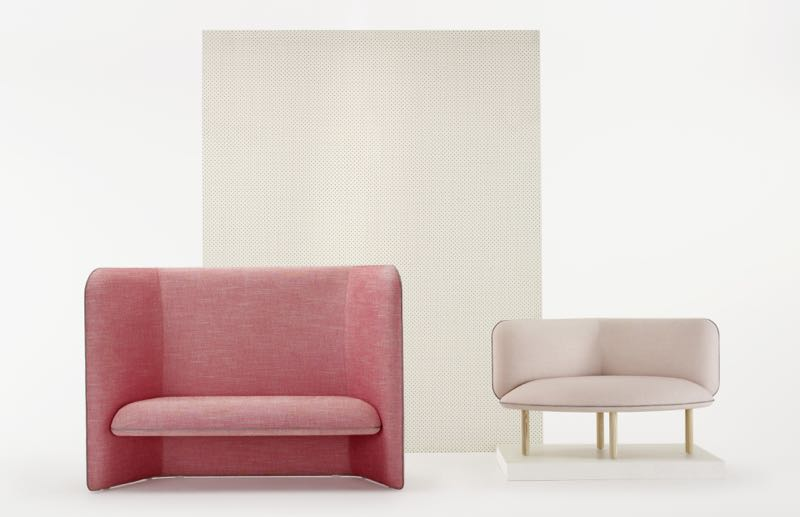 The 'Wes' range comes in two versions - one that is upholstered to the floor and offers a high back, while another, more petit form uses turned ash legs. The two different looks can work together within one space.