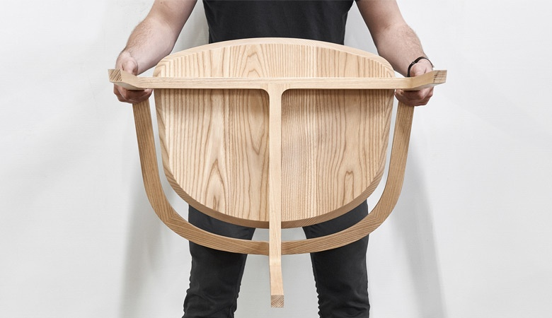 It seems a shame not to see more of the beautiful graphic structure of Tom Fereday's 'Bow' chair.