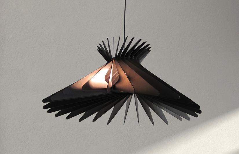 The assembled 'Spline' light for CDR (Craft Design Realisation) 2011.
