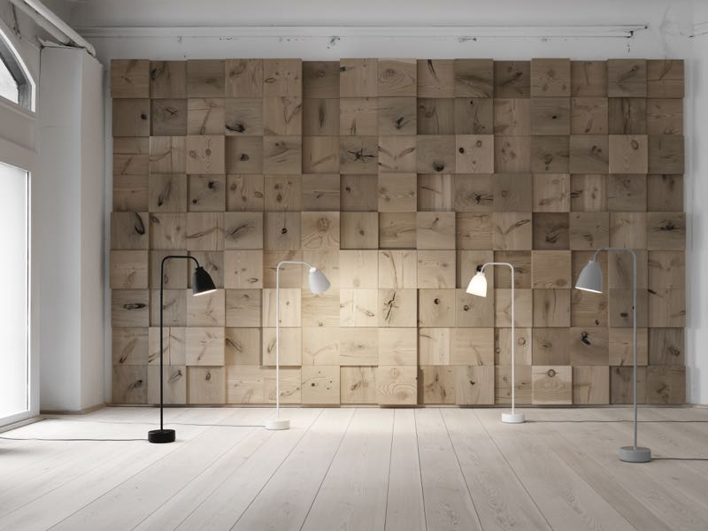 The 'Caravaggio Reading Lamp' in its floor configuration, designed by Cecilie Manz for Lightyears.