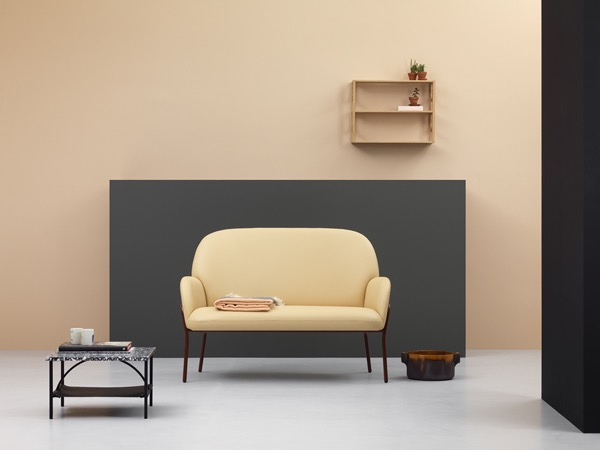 Note Design Studio's 'Sling Mini' sofa and 'Tabula' tables for Fogia.