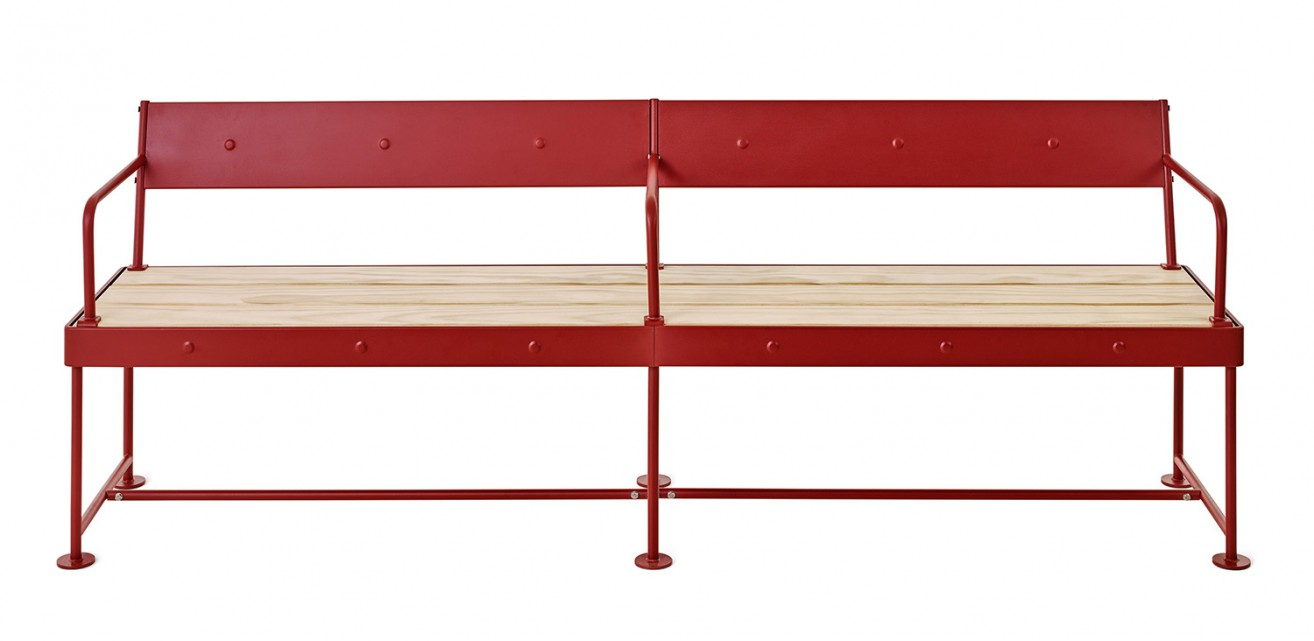 'Jern' bench by Joel Karlsson, Krook & Tjäder Design for  Nola .