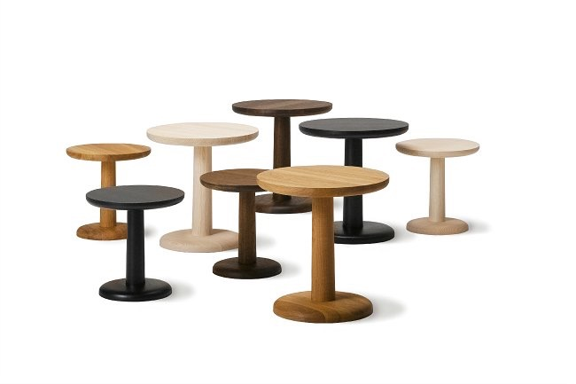 Jasper Morrison's 'Pon' side tables for Fredericia. Simple but perfectly proportioned.
