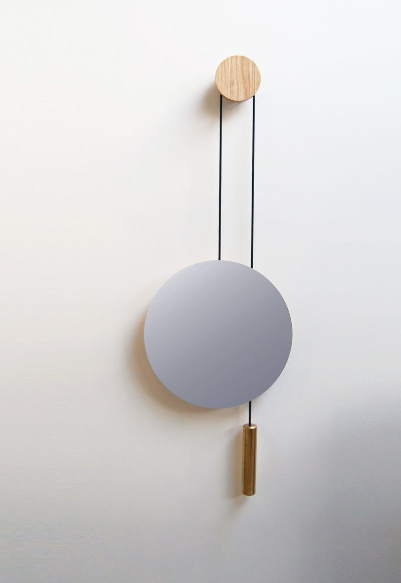 The 'Rise & Shine' adjustable height mirror by Hunting and Narud.