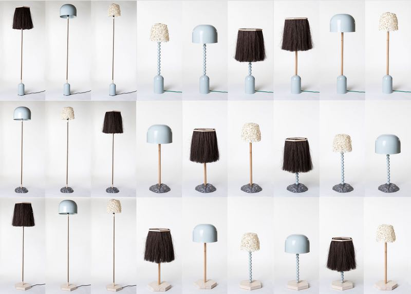 The first collaboration off the rank - 1+1+1 LIGHTS. I have to admit that I like the original Aalto Aalto light in blue the best but a Mash Up comes in second - the hairy shade on the same powder blue Aalto Aalto base.