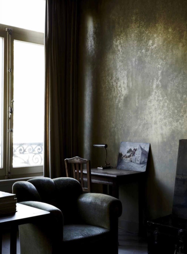 Colour is an important part of the Boulevard Leopold experience. Sludgy greens dominate the palette while the rich interplay of light and shadow provides a beautifully moody environment for the collection of vintage pieces and flea market finds. Photography Sharyn Cairns.