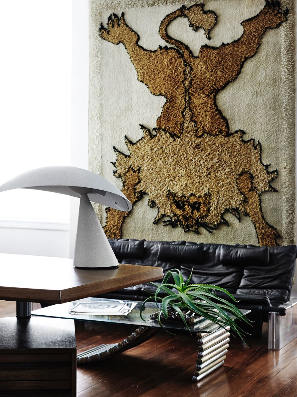 Don Cameron's home is a testament to his knowledge of vintage furniture, lighting and rugs but it goes further....its the way he combines the objects that is extraordinary - effortless yet exciting. Photography by Sharyn Cairns.