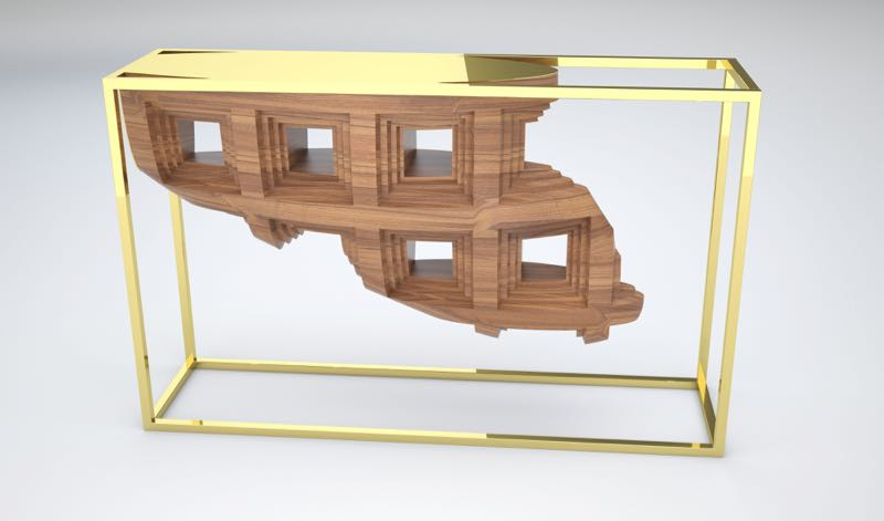 Analogia Project    'Rebus' console table for Fratelli Boffi.