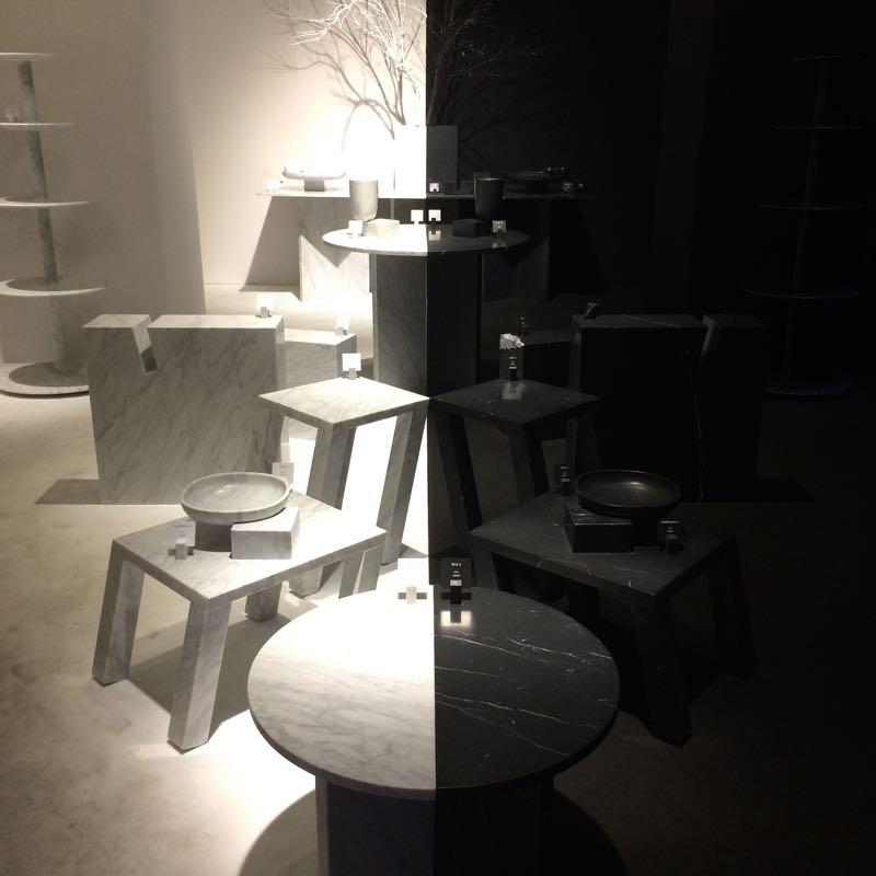 Nendo's installation for Marsotto Edizioni.