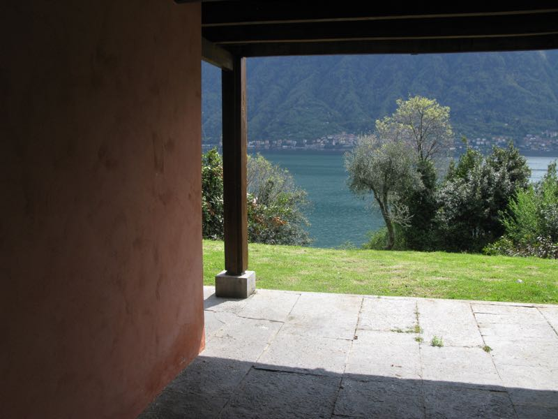 The view from Lingeri's artist house 2 of the lake was breathtakingly beautiful.
