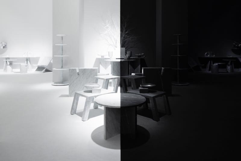 Nendo's  Light and Shadow  installation for Marsotto Edizioni.