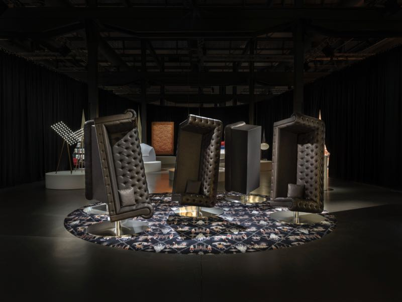 Marcel Wander's 'Charleston' lounge chairs 'dancing in the dark'. (sorry Bruce Springsteen).