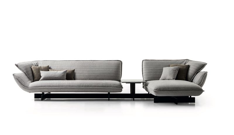 Urquiola's 'Beam' sofa system for Cassina captures her expressive way with upholstery but remains beautifully controlled.