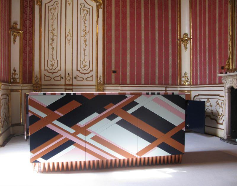 Leo di Caprio's extraordinary 'Ziggy' cabinet at Palazzo Litta.