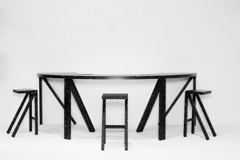 Jerszy Seymour's 'Happy Endings' collection of tables and stools for Magis.